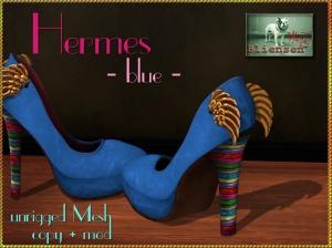 Bliensen + MaiTai - Hermes - Pumps - blue Kopie